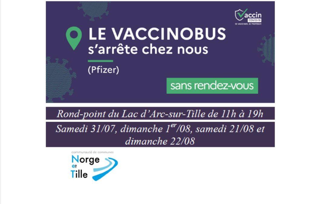 Vaccinobus sur la base de loisirs d'Arc-sur-Tille